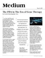 The FDA in The Era of Gene Therapy